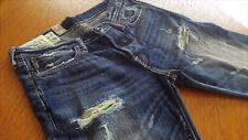 A&F Abercrombie & Fitch Kilburn Low Rise Vintage Destruction Jeans W30 L30 NEU