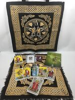 The Rider Waite Tarot Set- PLUS Goddess Tote & Layout Cloth, Quartz & Bag, Book