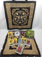 The Rider Waite Tarot Set- PLUS Goddess Tote & Layout Cloth, Quartz & Bag, Book