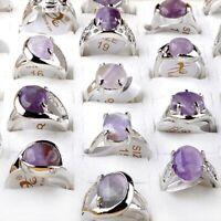 5 Stück Großhandel Gemischter Viele Natürliche Stein Versilbert Schmuck Ringe