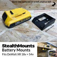 5x BLACK Battery Mounts for DeWalt 18v XR 54v FlexVolt Li Ion Batteries Holder