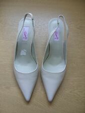 Ladies Shoes Carvela nude beige leather sling-backs, UK 6 EU 39, stilettos 3248