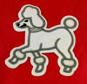 Poodle Skirt Applique gray and white
