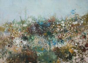 James Carlisle - 1937-2019 - Hedgerow in bloom - jewel of a painting