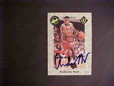 1991  CLASSIC  BASKETBALL  #NN   ANDERSON  HUNT CERT AUTO.   NM-MT