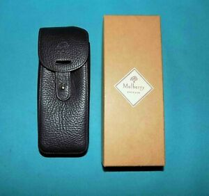 Case Phone Mulberry England Vintage Phone Shell Wexford Leather Black