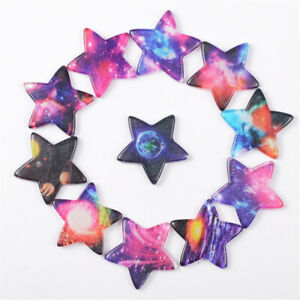 Lot of (x10) Mixed Resin Cabochons Star Shaped Starry Sky Pattern Craft Decor