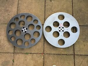 Old Cinema Two Large Premier 35mm film Projector Spools