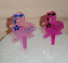 Flamingo,Bird of Paradise,Tropical Cupcake Picks,Plastic,Multi-color,DecoPac