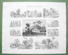 ASIA Indonesia Timor Java Borneo Manila Island - 1860s Print Multiple Views