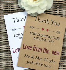10 Personalised Scratch Card Envelope For Wedding Favours Birthdays Anniversarys