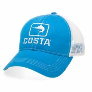 Costa Del Mar Marlin Trucker Cap Hat, Blue/White - HA 16CB