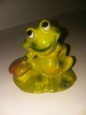 Josef Originals Frog W/ Mushroom & Ladybug Lily Pad Froggies Series A9