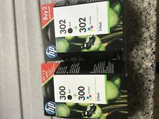 Genuine HP300 and HP302 Ink Cartridges Twin Pack Of Each