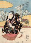 Orig Japanese Woodblock Print UKIYOE Kabuki actor Picture KUNISADA #1 ICHIKAWA