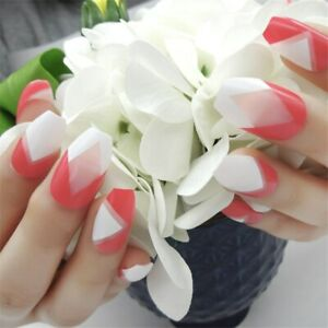 Ballerina Artificial Fake Nails Manicure Red DIY Tools Pre-designed Press On
