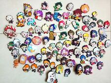 Random10PCS Lot Different Japanese Anime Characters Rubber Phone Strap Keychain