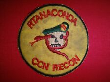 US 5th Special Forces Group MACV-SOG RT ANACONDA CCN RECON Vietnam War Patch