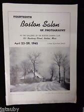 1945 Brochure Program THE BOSTON SALON OF PHOTOGRAPHY CLUB LEONARD MISONNE