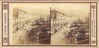Napoli Il Port Italia Foto Sommer Stereo Vintage Albumina Ca 1865