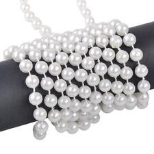 5M 8mm Perlenkette Perlenband Imitation Perlen Girlande Hochzeit Party FesteDeko