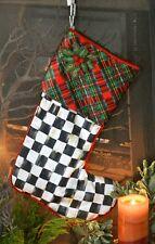 MacKenzie-Childs Holly & Berry Holiday Tartan Stocking-Small