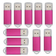 100Pack 4GB USB 2.0 Flash Drives Rectangle Thumb Pen Drive Memory Stick Computer