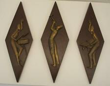 1960's Burwood JAZZ Men Diamond Wall Hangers African American Black Musicians