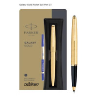 Parker Galaxy Gold Roller Ball Pen New