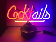 COCKTAILS Bar neon sign Neonleuchte Neonlampe Leuchte Neonschild Tables signs
