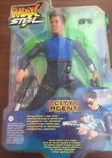 Rare Max Steel City Agent Super Action Figure Mattel 50620
