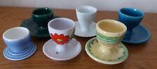 lot de 6 coquetiers/ poterie sarladaise/ FF France/ porcelaine Kaiser AK/ réf M3