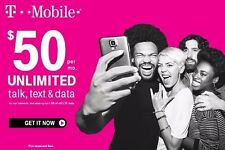 T-Mobile Sim card with Prepaid plan $50 10Gb 4G Lte Free First month 30 days