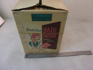 VINTAGE SEARS MODEL 8714 HAIR DRYER W/ HOSE MISSING HOOD WORKS GREAT