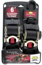 "Erickson Ratchet Tie Down Straps 2"" x 6' Retractable 4000 lbs Load Pro Series"