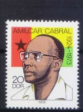 DDR 1978 MNH, Amilcar Cabral, agricultural engineer, Intellectual, Poet, Revolut