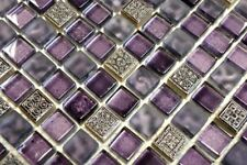 Mosaïque carreau translucide verre resin violet pâle cuisine 92-1107_b |1 plaque