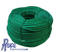 3 Strand Polypropylene Multifilament Softline Rope. 12mm Green x 220 Metres