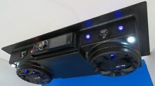 Golf Cart UTV Roof Mount Console Stereo Radio DVD Bluetooth AM FM CD Speakers