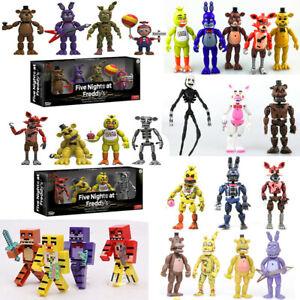 Freddy's Foxy Toys Balloon Nights FNAF Bonnie Figure At Action Doll Five Freddy