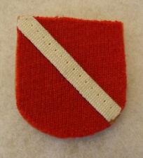 RARE OLD TWILL ON FELT PARA FLASH HAND SEWN PIECE WHITE TWILL ON RED FELT
