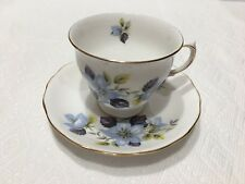 Queen Anne Bone China Tea Cup & Saucer Flowers Made In England
