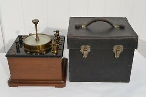 FANTASTIC WESTINGHOUSE ELECTRIC & MFG CO. PRECISION WATTMETER WITH LEATHER CASE