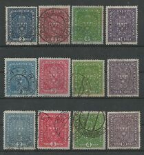 Österreich 1916 Wappenzeichnung komplett  gestempelt