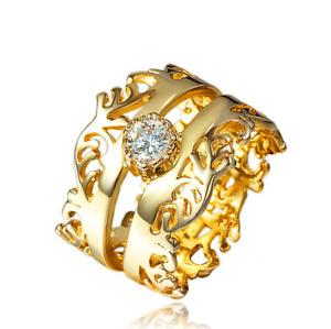 Ringe Damen Geburtstagsgeschenk Kristalle Geschenk Liebe golden 58mm Queen Party