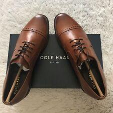 NEW wBox-Men's COLE HAAN British Tan Dustin Cap Brogue II Oxfords 11 M