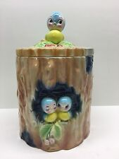 Vintage Norcrest Japan Blue Bird Cookie Jar RARE