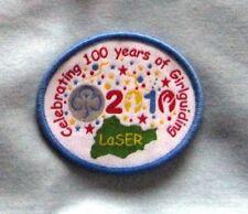 Girl Guide Badge - LaSER Celebrating 100 years of Girlguiding 2010 - New