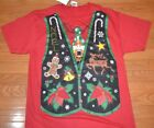 Ugly Christmas Sweater Vest T-Shirt Tee Nutcracker Tie Adult Men's Shirt Holiday