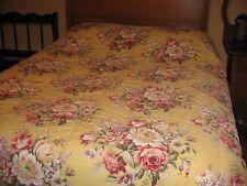 Ralph Lauren Sophie Brooke Queen Size Yellow Floral Comforter Roses 100 % cotton